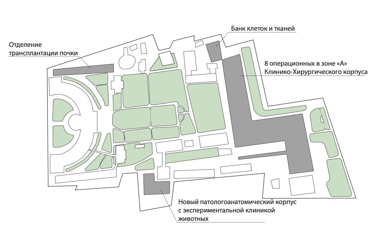 Патологоанатомический корпус с экспериментальной клиникой животных НИИ СП им. Н.В. Склифосовского