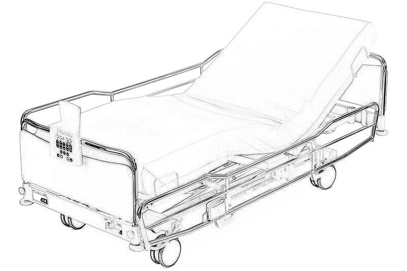 Кровать реанимационная ScanAfia X ICU